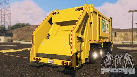 Portugal, Madeira Garbage Truck CMF Skin для GTA 5 вид сзади слева