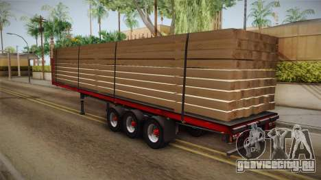 Flatbed Trailer Red для GTA San Andreas вид слева