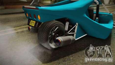 GTA 5 BF Raptor IVF для GTA San Andreas вид сверху