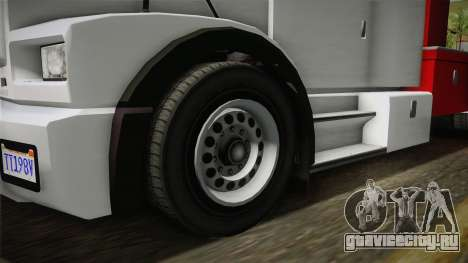GTA 5 Brute Utility Truck IVF для GTA San Andreas вид сзади
