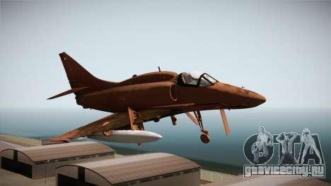 EMB McDonnell Douglas A-4M Skyhawk для GTA San Andreas вид сзади слева