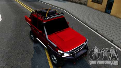 Toyota Land Cruiser 70 Off-Road V2.0 для GTA San Andreas вид справа