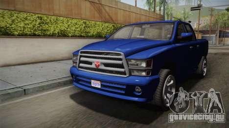 GTA 5 Bravado Bison для GTA San Andreas вид справа