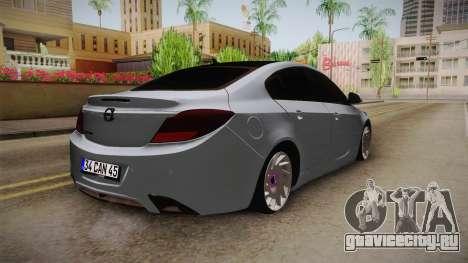 Opel Insignia для GTA San Andreas вид справа