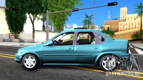 Chevrolet Corsa Classic 2009 для GTA San Andreas вид слева