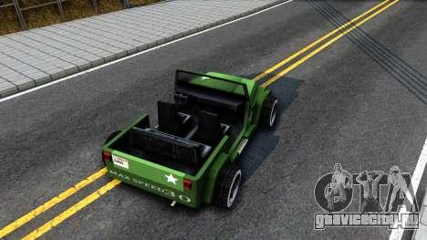 Rat Rod Mesa для GTA San Andreas вид сзади