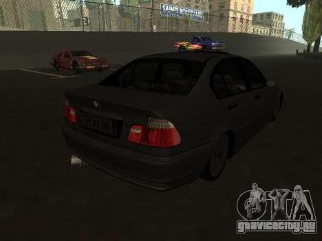 BMW 320i Armenian для GTA San Andreas вид сзади слева