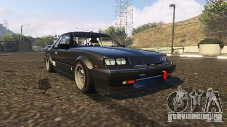 Nissan Skyline RS-X R30 для GTA 5 вид сзади