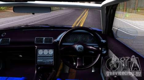 Nissan Skyline GTR R32 Rocket Bunny для GTA San Andreas вид изнутри