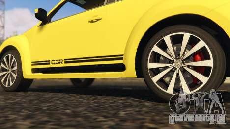 Limited Edition VW Beetle GSR 2012 для GTA 5 вид сзади справа