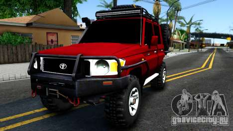 Toyota Land Cruiser 70 Off-Road V2.0 для GTA San Andreas