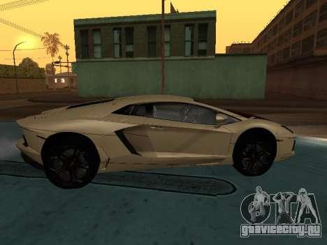 Lamborghini Aventador LP700-4 Armenian для GTA San Andreas вид справа