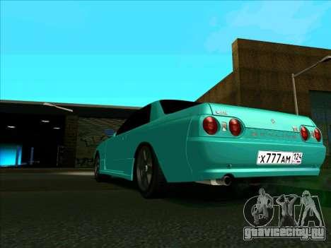 Nissan Skyline R-32 CITY STYLE STOK для GTA San Andreas вид сзади слева