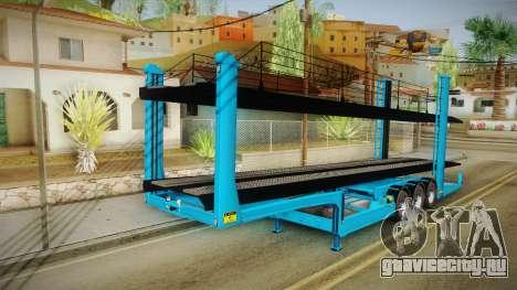 Car Trailer JTZ для GTA San Andreas вид сзади слева