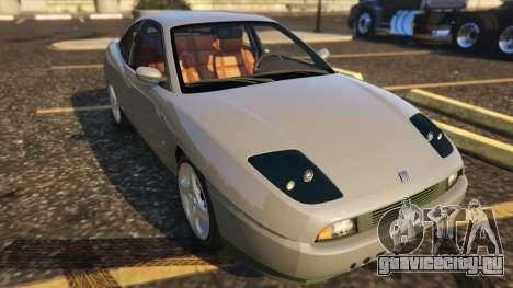 Fiat Coupe для GTA 5 вид сзади