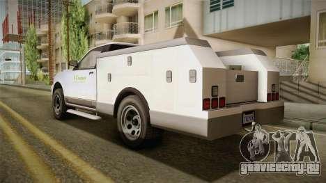 GTA 5 Vapid Utility Van IVF для GTA San Andreas вид слева