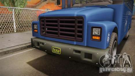 GTA 5 Vapid Police Prison Bus IVF для GTA San Andreas вид сверху