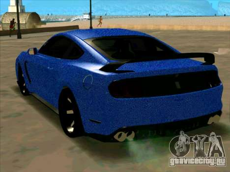 Ford Mustang BLUE STYLE для GTA San Andreas вид сзади слева