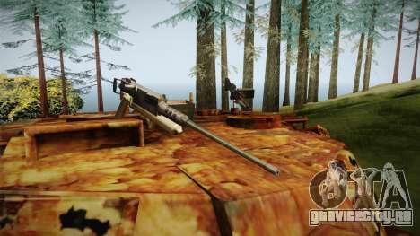 Abrams of Hell Rusty для GTA San Andreas вид изнутри