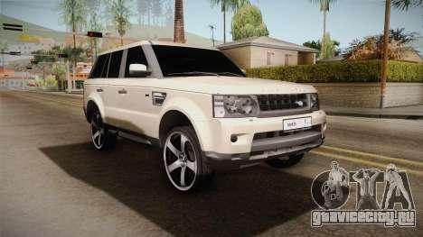 Land Rover Range Rover 2015 Sport для GTA San Andreas вид сзади слева