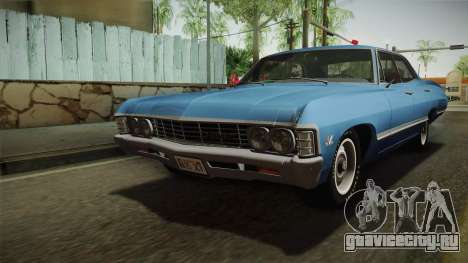 Chevrolet Impala Sport Sedan 396 Turbo-Jet 1967 для GTA San Andreas вид сзади слева
