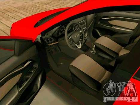 Lada Vesta BPAN для GTA San Andreas вид сзади
