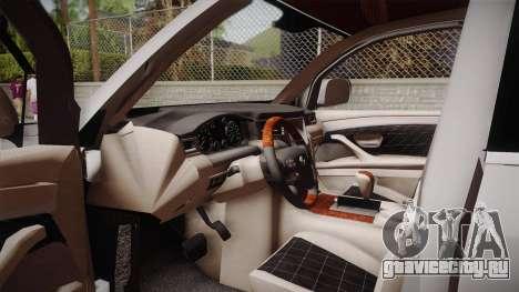 Lexus LX570 F-Sport Design для GTA San Andreas вид изнутри