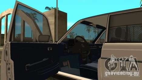 Mersedes-Benz E123 Armenia для GTA San Andreas вид сзади