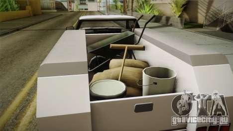 GTA 5 Vapid Utility Van IVF для GTA San Andreas вид изнутри