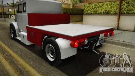 GTA 5 Brute Utility Truck IVF для GTA San Andreas вид сбоку