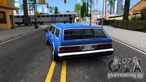 Premier Wagon для GTA San Andreas вид сзади слева