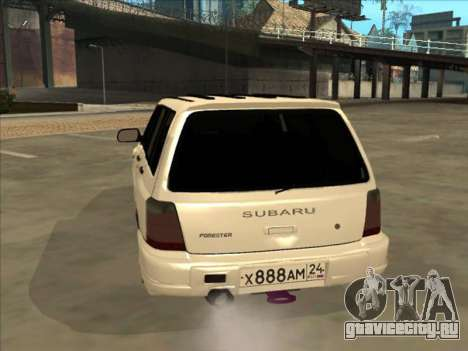 Subaru Forester для GTA San Andreas вид изнутри