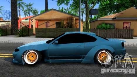 Nissan Silvia S15 326 Rocket Bunny для GTA San Andreas вид слева