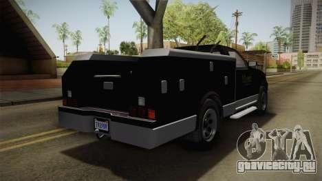 GTA 5 Vapid Utility Van для GTA San Andreas вид сзади слева