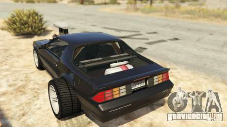 IROC-Z Big V8 Drag Car для GTA 5 вид сзади слева