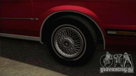 Buick Century 1986 для GTA San Andreas вид сзади