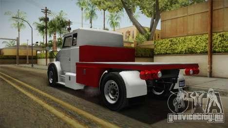 GTA 5 Brute Utility Truck IVF для GTA San Andreas вид сзади слева
