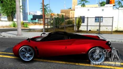 Pagani Huayra для GTA San Andreas вид слева