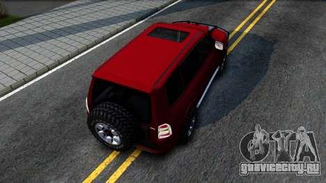 Mitsubishi Pajero IV для GTA San Andreas вид сзади