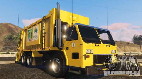 Portugal, Madeira Garbage Truck CMF Skin для GTA 5 вид сзади