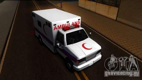 Ambulance Malaysia для GTA San Andreas вид справа