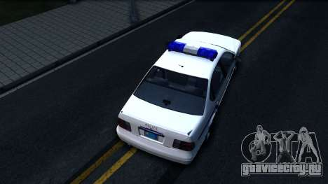 Declasse Merit Hometown Police Department 2004 для GTA San Andreas вид сзади