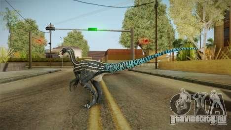 Primal Carnage Velociraptor Blue Tailed для GTA San Andreas третий скриншот