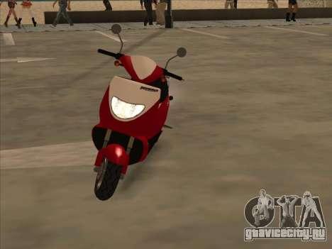 GTA IV Faggio для GTA San Andreas вид сзади слева