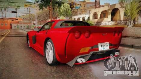 Chevrolet Corvette Z06 American Muscle для GTA San Andreas вид слева