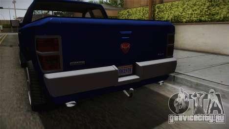 GTA 5 Bravado Bison для GTA San Andreas вид изнутри