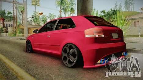 Audi A3-TR для GTA San Andreas вид слева