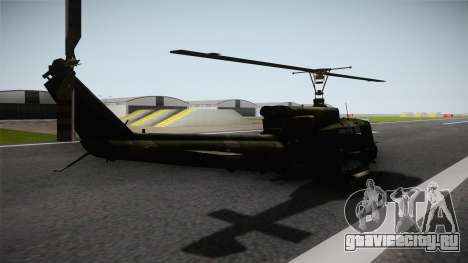 Bell UH-1N Russian для GTA San Andreas вид сзади слева