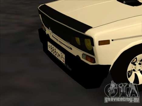 Ваз-2106 Colxoz для GTA San Andreas вид снизу