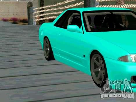 Nissan Skyline R-32 CITY STYLE STOK для GTA San Andreas вид изнутри